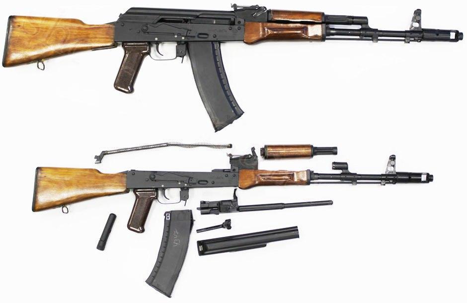 Стрелковое вооружение мотострелкового отделения - АК-74-дерево