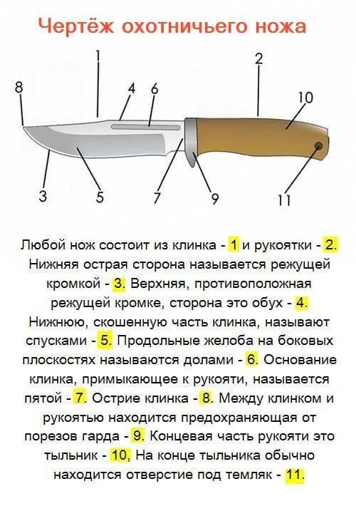 11 частей ножа